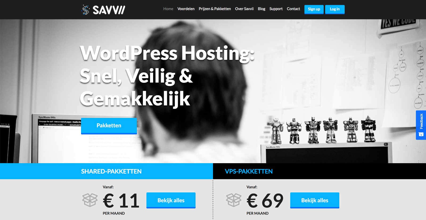Savvii Managed WordPress Hosting homepage