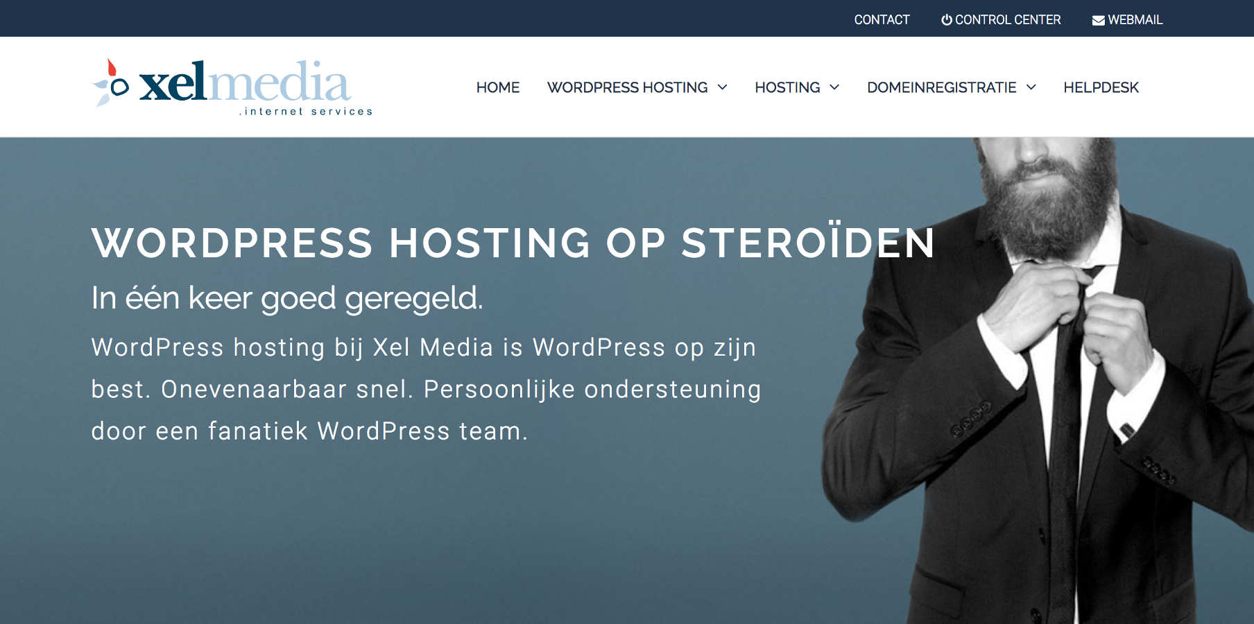 Xel Media WordPress hosting homepage